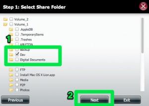 DNS-320 Network Share Folder