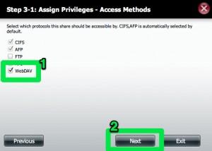 DNS-320 Network Share WebDav