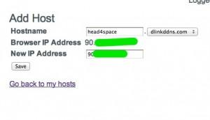 Add Host to DLINK