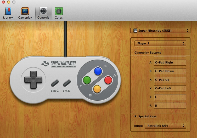 Open Emu Super Nintendo Controls
