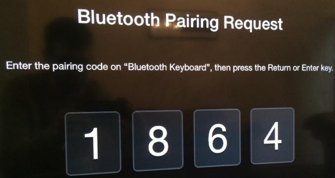 Apple TV Bluetooth Pairing Code