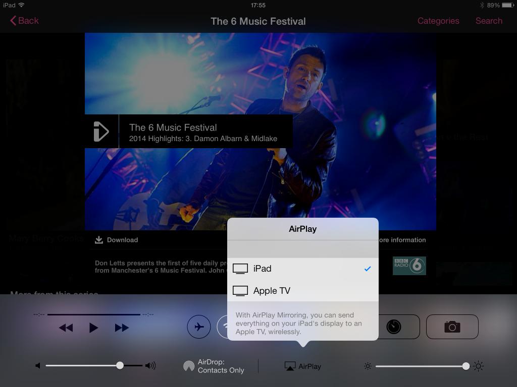 Click Air Play icon