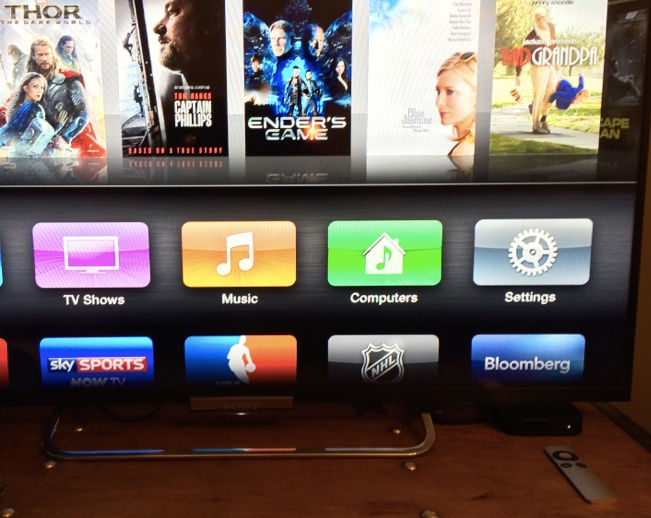 Switch on Apple TV and Screen