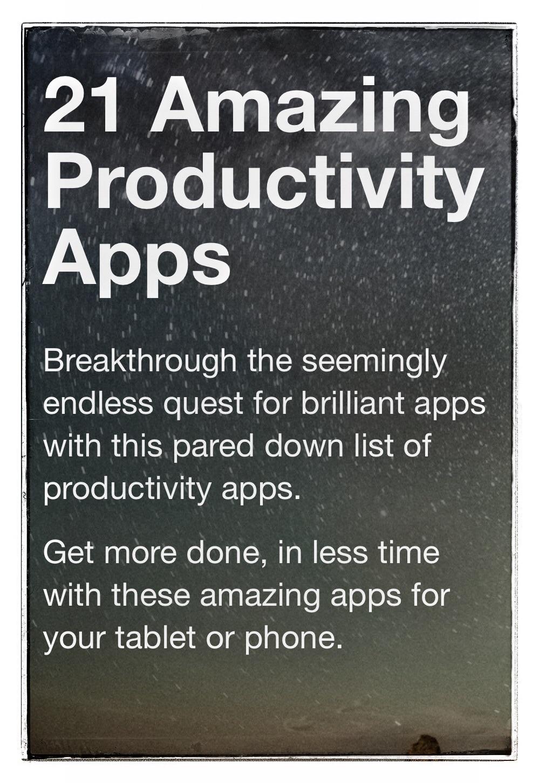 21 Amazing Productivity Apps eBook