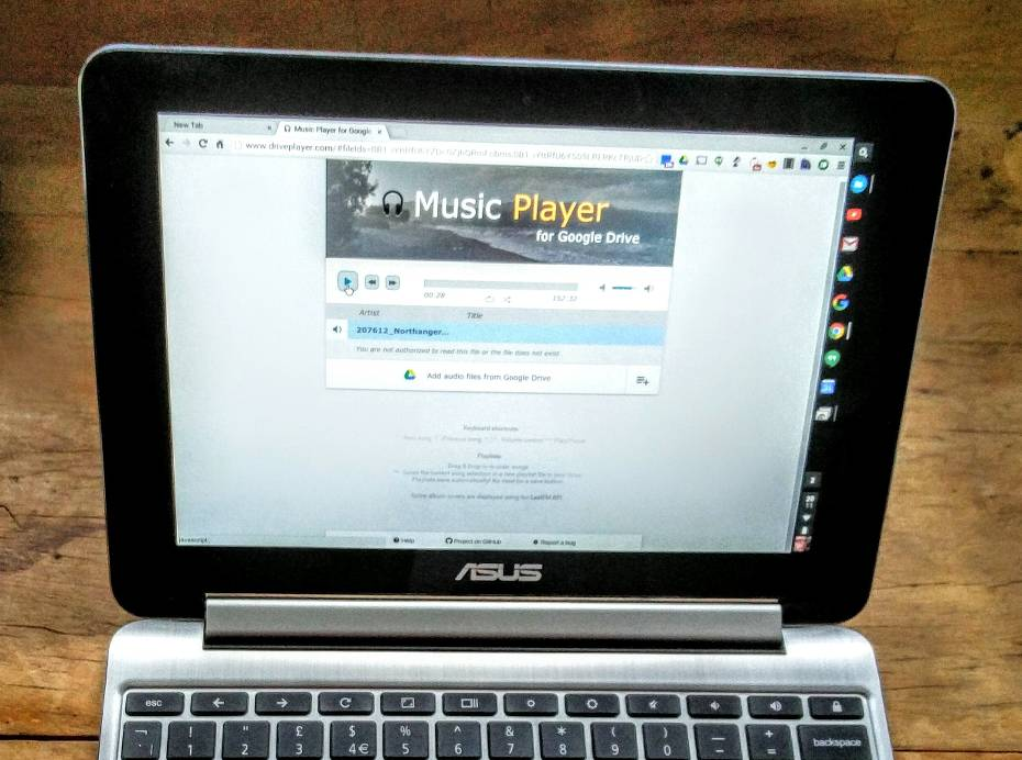 Play Audiobooks on a Chromebook with Music Player for Google Drive
