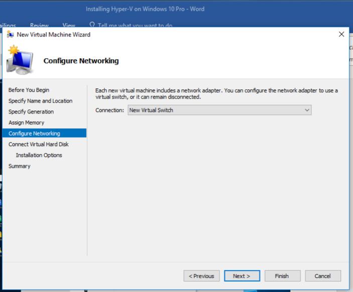 Installing Hyper-V on Windows 10 Pro 15