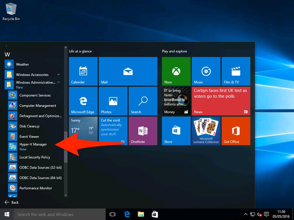 Installing Hyper-V on Windows 10 Pro 5