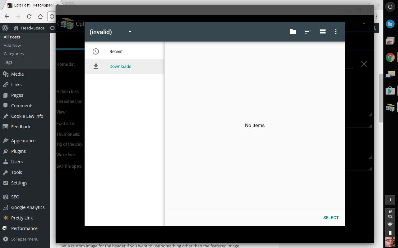 Select Downloads Folder