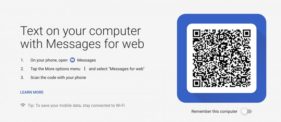 Text Messages on Chromebook - QR Code
